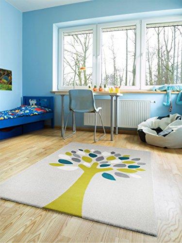 benuta teppiche kinderzimmer kinderteppich magic tree gr n 120x170 cm gut siegel 100. Black Bedroom Furniture Sets. Home Design Ideas