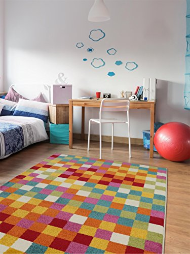 benuta teppiche kinderzimmer teppich noa pixel multicolor 160x230 cm oeko tex standard 100. Black Bedroom Furniture Sets. Home Design Ideas