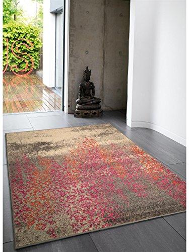 benuta Teppiche: Moderner Designer Teppich Liguria Multicolor 80x140 cm - Oeko-Tex Standard 100-Siegel - 100% Polypropylen - Vintage / Patchwork - Maschinengewebt - Wohnzimmer