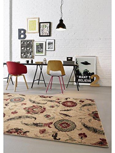 benuta Teppiche: Moderner Designer Teppich Opulence Multicolor 80x150 cm - GuT-Siegel - 100% Polypropylen - Ziegler - Maschinengewebt - Wohnzimmer