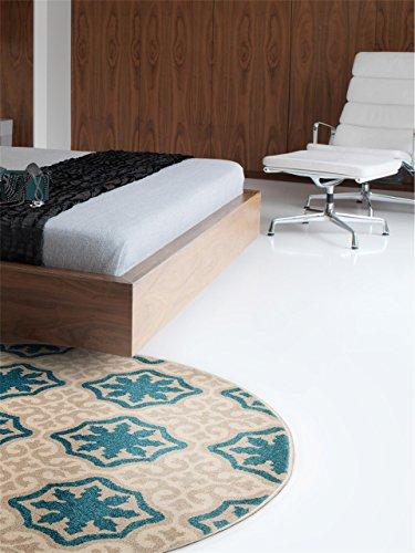 benuta Teppiche: Teppich rund Mylin Beige ø 160 cm rund - schadstofffrei - 100% Polypropylen - Ornament - Maschinengewebt - Wohnzimmer