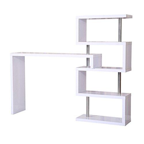 homcom 831-011 Bartisch, Holz, weiß, 195 x 39,6 x 164,5 cm