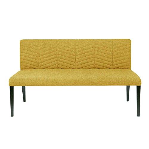 lounge-zone Sofa Couch Esstischbank Esszimmerbank Bank Sitzbank NORA Breite 156cm ocker 14048