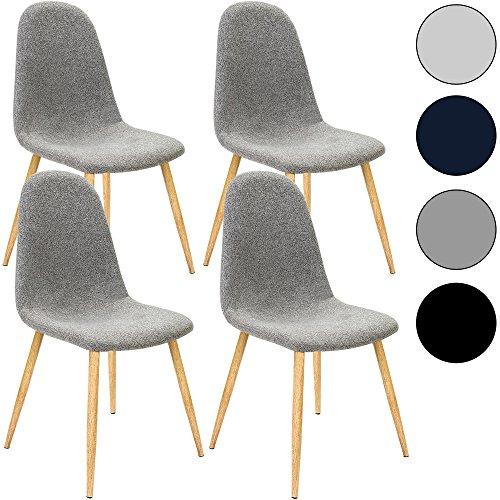 4x Design Stuhl mit Stoffbezug - Esszimmerstühle Stühle Designerstuhl
