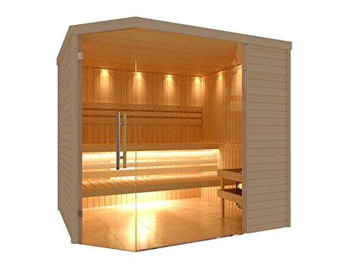 C-Quel Royal Sauna Glasfront Eckmodell 2260mm x 2090mm x 2040mm
