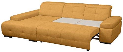Cavadore 5036 Polsterecke Mistrel, Longchair XL 3-er Bett, 273 x 77-93 x 173 cm, Kati curry