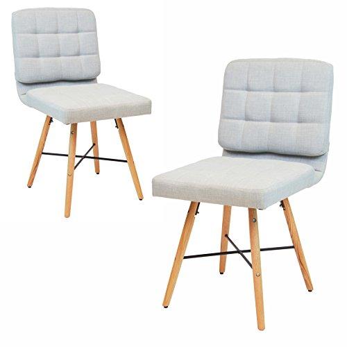 Delta Esszimmerstühle 4er set wohnzimmer stuhl retro design grau mit holz
