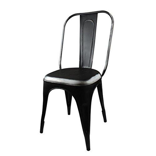 Freak Scene® Stuhl ° Metall schwarz ° Sitzmöbel ° Metallstuhl
