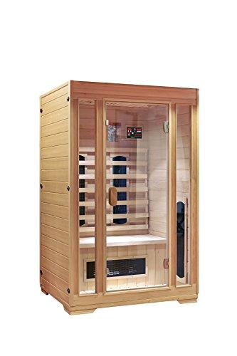 "INTERLINE Infrarot-Wärmekabine, Vorderwand Glas/ ""Hemlock"" inkl. USB Media Spieler 120 x 100 x 190 cm"