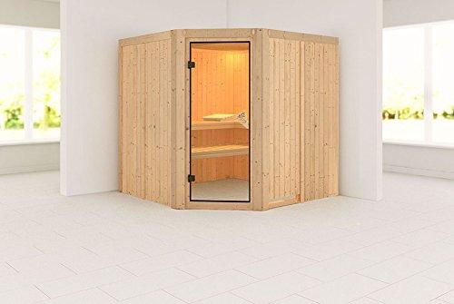 Karibu Sauna Jarin Modern mit Saunaofen 9kW intern