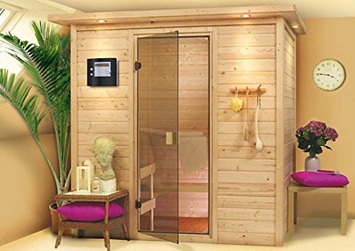 Karibu Sauna Sonja ohne Dachkranz (Fronteinstieg)