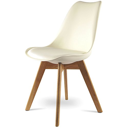 MOJO Design Stuhl Esstischstuhl Holz Gestell in weiss WO-Sel