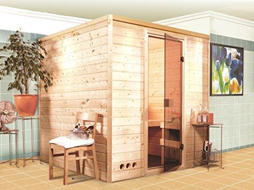 Massivholz Sauna Lemi 196cm x 196cm x 200cm