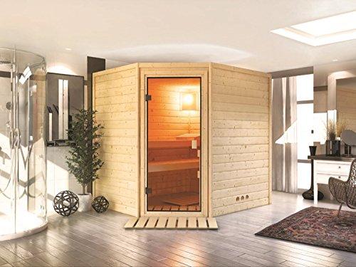 Massivholz Sauna Otava 196cm x 170cm x 198cm Eckmodell