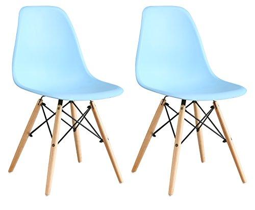 OYE HOYE Retro Designer Stuhl Esszimmerstühle Wohnzimmerstühl, aus Hochwertigem Strapazierbarem Kunststoff und Buchenholz, 2er/4er Set