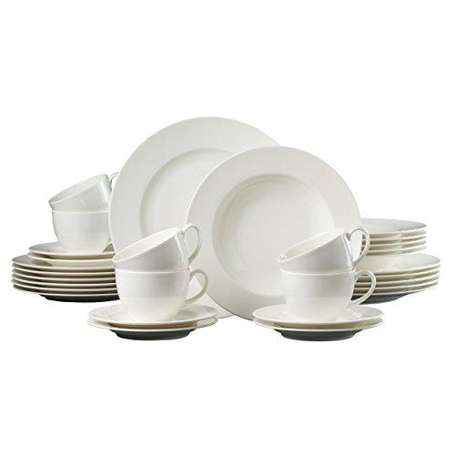 Ritzenhoff & Breker Kombiservice Solino, Hochwertiges Porzellan, 30-teilig, 60683