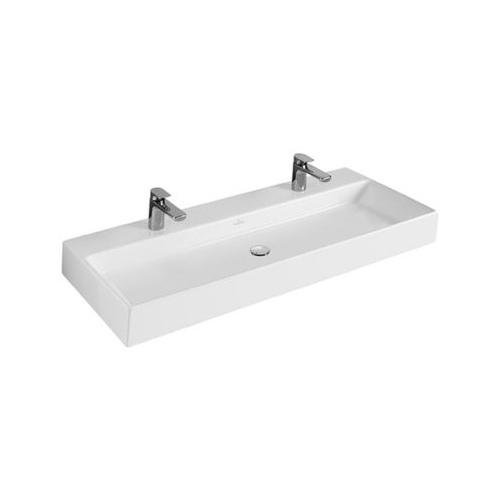 V&B Villeroy und Boch Memento Doppel Waschtisch Waschbecken 100 cm 5133A401