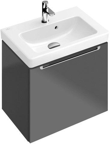 Villeroy & Boch Handwaschbecken Subway 7315F0 50x40cm Hahnloch durchgest mit Überlauf weiß, 7315F001