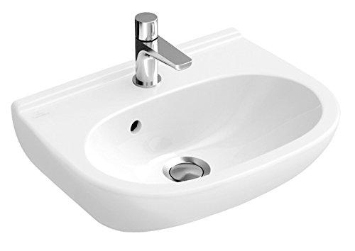 Villeroy & Boch Handwaschbecken compact O.novo 536050 500x400mm mittl Hl. durchgest m. Ül. weiß, 536