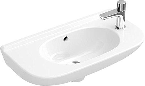 Villeroy & Boch Handwaschbecken compact O.novo 536150 500x250mm seitl.e Hl. v.gestochen m. Ül. weiß,