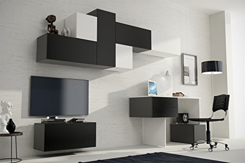 RUBIC 3 Ausführungen, Moderne Wohnwand, Exklusive Mediamöbel, TV-Schrank, Neue Garnitur, Große Farbauswahl