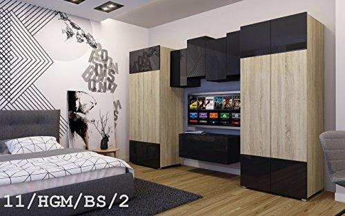 Wohnwand FUTURE 11 Schrankwand Moderne Wohnwand Wohnwand FUTURE 14 Moderne Wohnwand, Exklusive Mediamöbel, TV-Schrank,