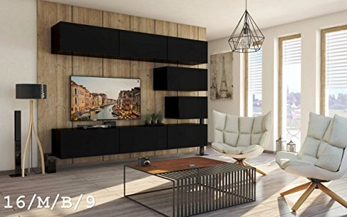Wohnwand FUTURE 16 Anbauwand Schrankwand Moderne Wohnwand Exklusive Mediamöbel Möbelset Wohnzimmer Matt