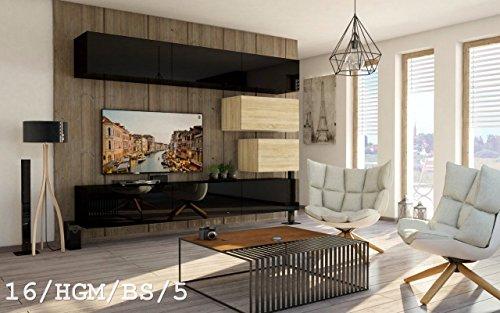 Wohnwand FUTURE 16 Anbauwand Schrankwand Moderne Wohnwand Exklusive Mediamöbel Möbelset Wohnzimmer Matt / Hochglanz