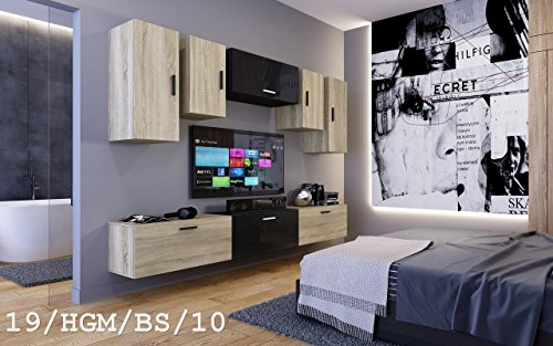 Wohnwand FUTURE 19 Moderne Wohnwand, Exklusive Mediamöbel, TV-Schrank, Neue Garnitur, Große Farbauswahl