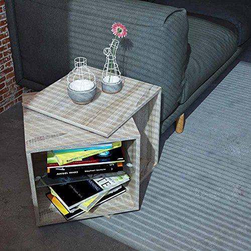 Rotating Tabel drehbarer Tisch verstellbar Drehtisch Couchtisch Beistelltisch Couchtisch Blumenhocker Nachtkommode, Farbe:weiß