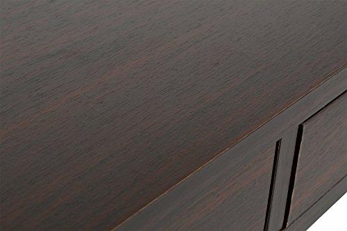 ts-ideen Design Bodentisch Wohnzimmer Tisch Beistelltisch Schubalden Ablage Kaffeetisch Anrichte Couchtisch japanischer Stil 90 x 45 cm