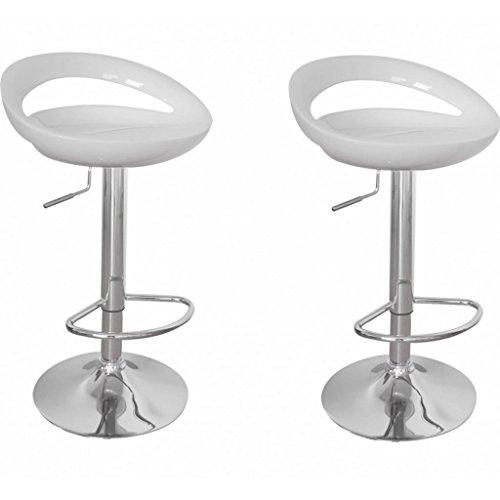 vidaXL 2 DESIGN Barhocker Bar Stuhl Drehstuhl LOUNGE Hocker Küche Barstühle Weiß NEU 10