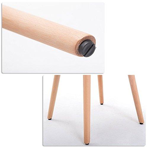 MCTECH® 2x Stuhl Esszimmerstühle Esszimmerstuhl Stuhlgruppe Konferenzstuhl Küchenstuhl Armlehne Büro mit Massivholz Eiche Bein (Type E, Grau)