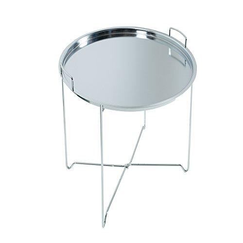 Orientalischer Beistelltisch MARRAKESCH Tablett-Tisch 45 cm klappbar silber Couchtisch Tisch Wohnzimmertisch