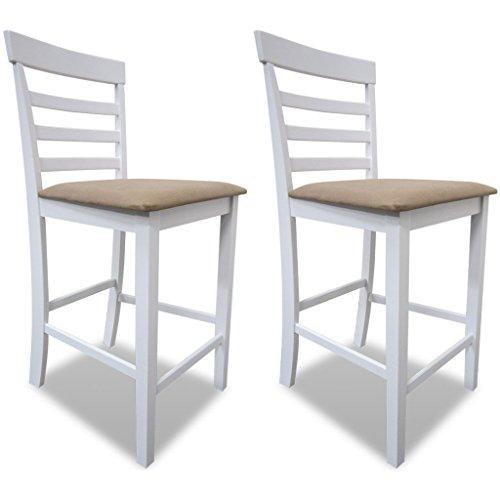 vidaxl 2x holz barhocker bistrohocker tresenhocker barstuhl polsterstuhl lehnstuhl m bel24. Black Bedroom Furniture Sets. Home Design Ideas