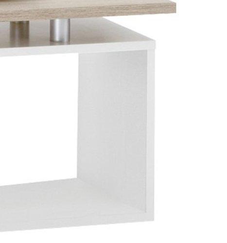FMD Möbel 627-001 Couchtisch Klara 77 x 44 x 40 cm, eiche / weiß