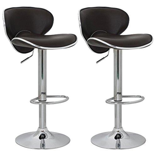 vidaXL 2 x DESIGN Barhocker Bar Stuhl Hocker LOUNGE Sessel Küche Barstühle Barstuhl 47
