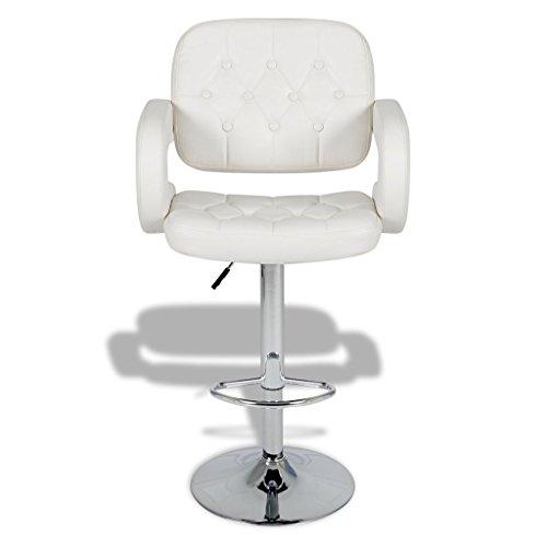 vidaXL 2x Kunstleder Barhocker Barstuhl Drehstuhl Lounge Stuhl geschwungene Armlehnen