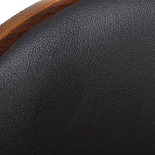 vidaXL Barhocker aus Leder einstellbare Höhe Rückenlehne Armlehne