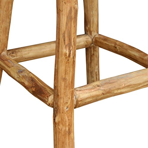 vidaXL Echtleder Barhocker Barstuhl Tresenhocker Sitzhocker Ziegenleder 35x78 cm