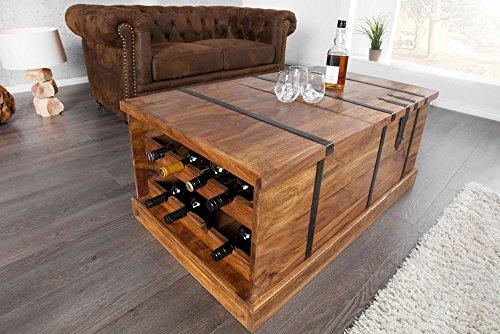Invicta Interior 30151 Couchtisch Hausbar Bodega 100cm Sheesham