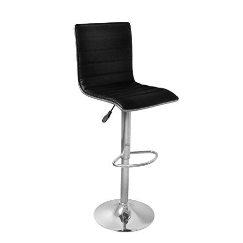 vidaXL 2 DESIGN Barhocker Bar Stuhl Drehstuhl LOUNGE Hocker Küche Barstühle Schwarz 8