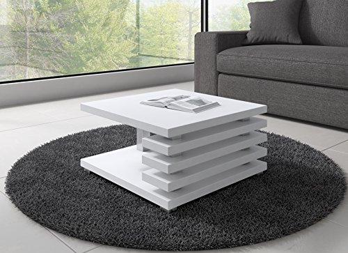 Couchtisch Oslo 60 x 60 cm, Weiß matt.