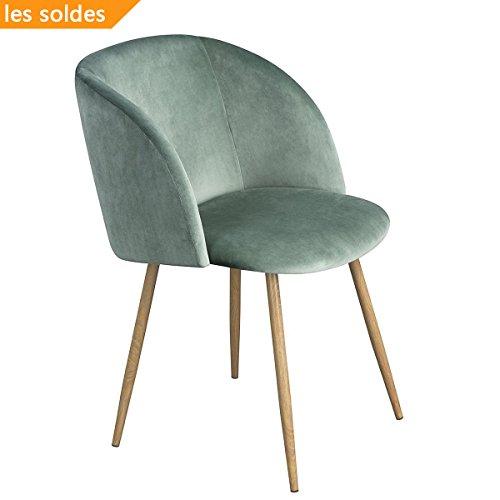 1er Set Vintage Sessel Polstersessel Samt Lounge sessel Clubsessel Fernsehsessel (grün)