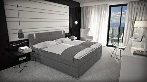 Boxspringbett 180x200 cm Doppelbett Hotelbett inkl. LED