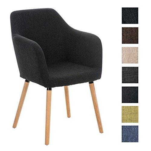 CLP Besucher Design-Stuhl PICARD, Holzgestell, Stoffbezug, gut gepolsterte Sitzfläche, modern