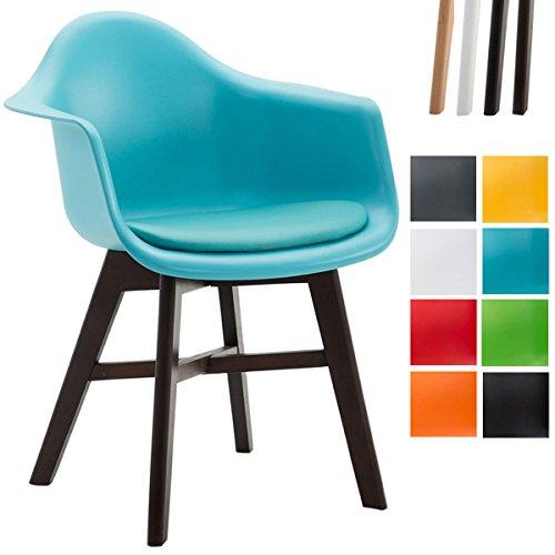CLP Besucherstuhl CALGARY, Kunststoff-Sitz-Schale mit Kunstleder-Bezug, Buchenholz-Gestell,