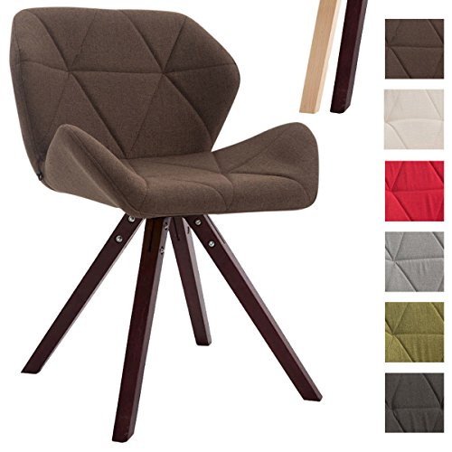 Clp design retro stuhl tyler bein form square stoff sitz for Stuhl design drehbar