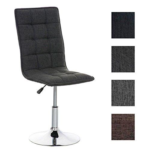 CLP Esszimmer-Stuhl PEKING mit Stoffsitz, Lounge-Sessel Charakter, Sitzhöhe verstellbar 40-54 cm, Sitzfläche drehbar, modern