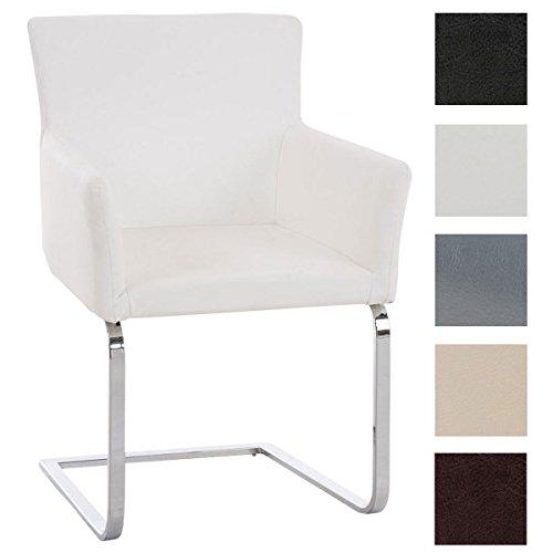 CLP Freischwinger-Stuhl PIRUS mit Armlehne, gepolstert, modern, Sitzhöhe 49 cm